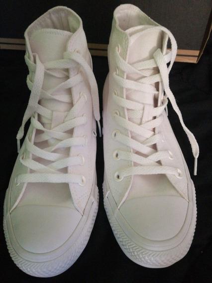 Zapatillas Converse Cta Monochrome High - Blanco