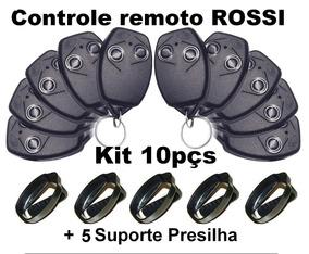 Controle Portão Rossi Kit 10pçs + 5 Presilhas