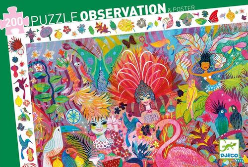 Djeco Puzzle De Observación Río Carnaval 200pcs Dj07452