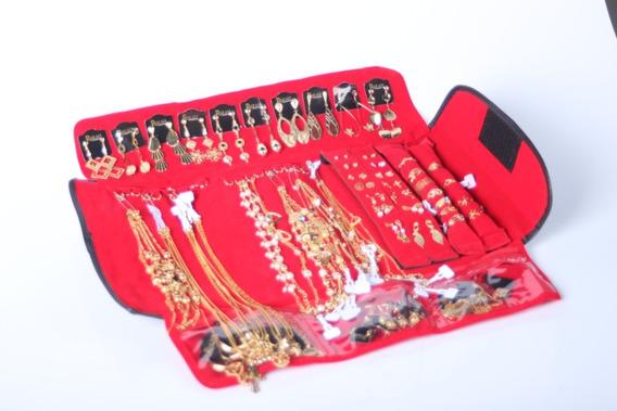 Kit Com 10 Anéis E 10 Brincos Grandes