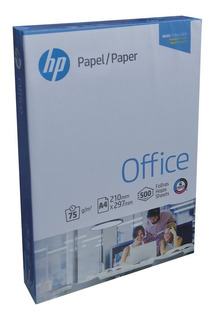 Resma Papel A4 500 Hojas 75 Grs Ultra Blanco Marca Hp Office