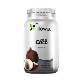 Óleo De Coco 1000mg - Fitoway - 120 Cápsulas Original