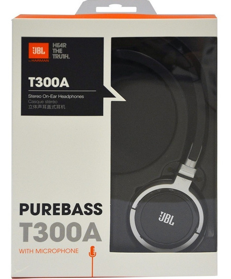 Headphone Jbl T300a Preto Com Microfone