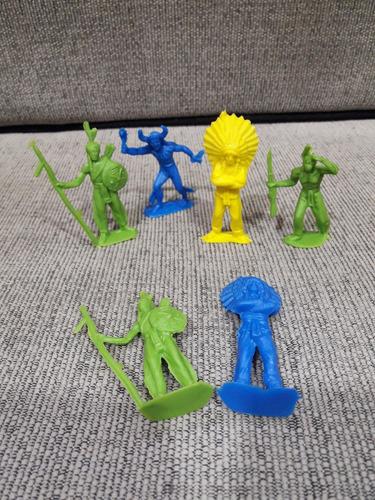 12 Indios Caciques Plasticos Bolsa Gv73