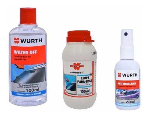 Imagem 1 de 2 de Water Off + Limpa Para Brisa + Anti Embaçante Vidro - Wurth