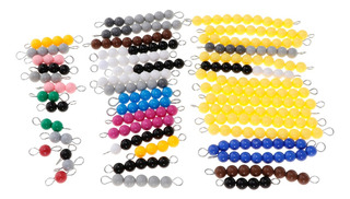 Montessori Bead Bars Para 1-10 Number Counting Learning Kids