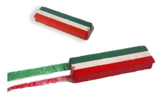 Gis Maquillaje Tricolor Verde Blanco Rojo 12 Pzs