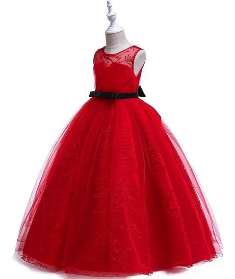 Vestido Niña Fiesta, Paje ,d Gala, Rojo