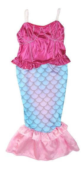 Conjunto De Bikini Para Niñas, Disfraz De Sirena