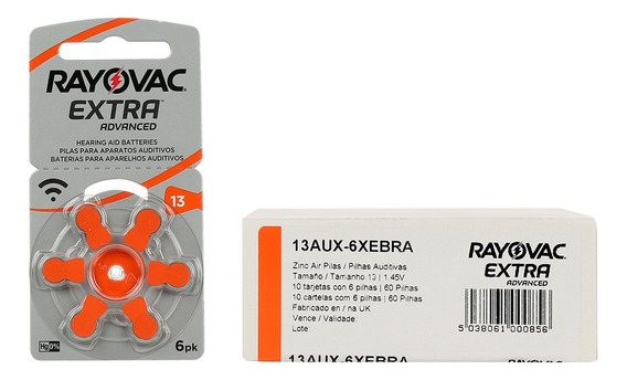 Rayovac 13 Pr48 - 60 Baterias Pilhas Aparelho Auditivo