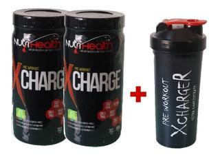 Kit 2x Pré Treino Monstro - Xcharge Nutrihealth + Shaker