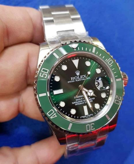 Relógio Submariner Verde Suíço Movimento Automático