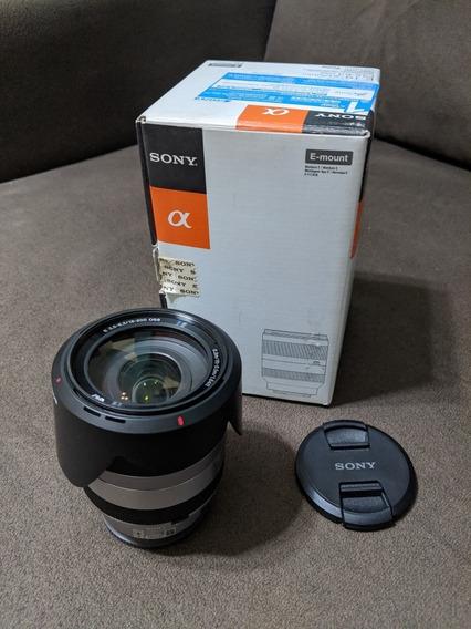 Lente Sony Sel18-200 Impecável Na Caixa.