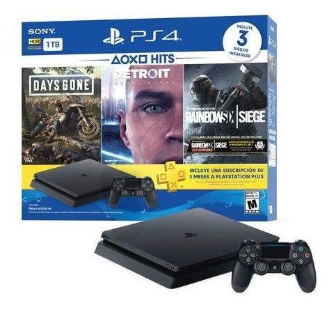 Playstation Ps4 Slim 1tbs 3 Video Juegos Adiccionales