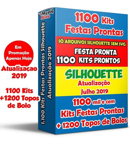 1100 Kits Festa Pronta Arquivos Silhouette + Topos Bolos