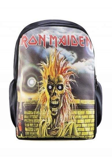 Mochila Iron Maiden City Rock Barato Volta Aulas