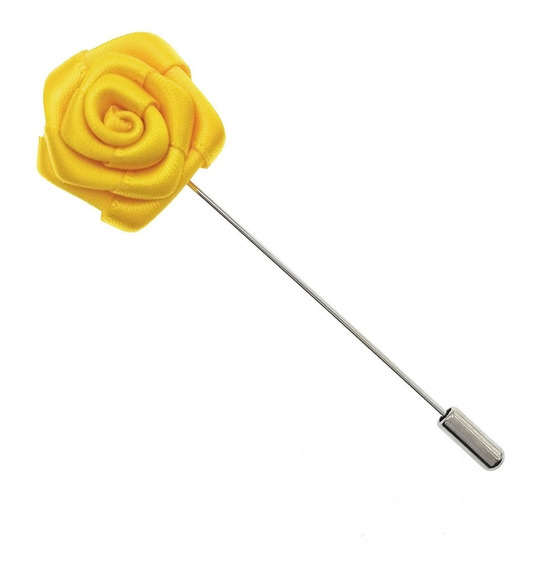 Fistol Flor Amarilla Claro Pequeña Accesorio Traje Pin G-155