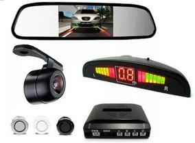 Retrovisor Câmera De Re Visão Noturna Sensor Estacionamento