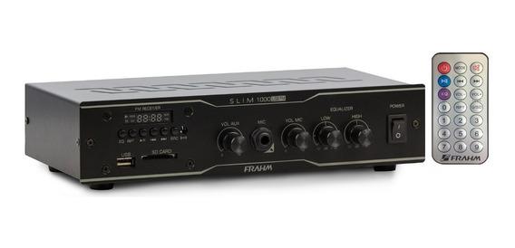 Kit 8 Suportes 8 Caixas 1 Amplificador Receiver Slim 1000