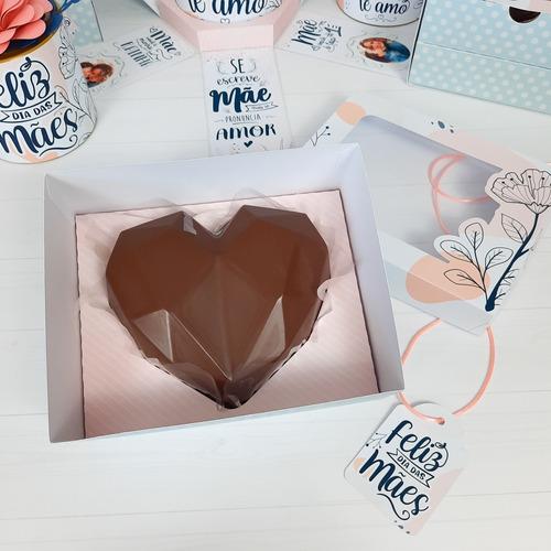 Caixa Coração Lapidado 200g Dia Das Mães
