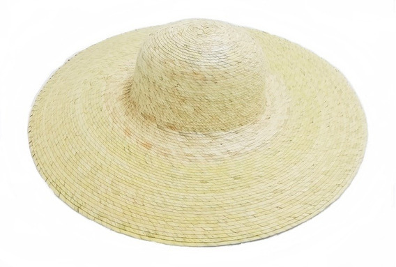 Sombrero De Playa Artesanal De Palma Dama