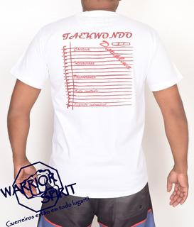 Camisa/camiseta De Artes Marciais - Taekwondo-princípios