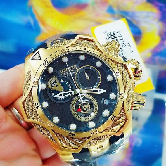 Relógio Invicta 27705 Dourado Aço Ouro 18k Borracha ## Venom