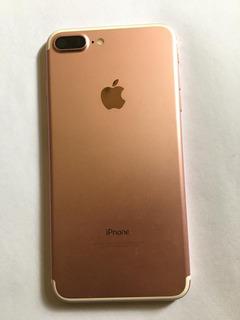 Carcaça iPhone 7 Plus Rose Original Retirada C/flex