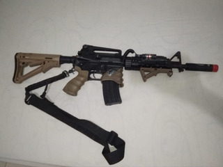 Fuzil M4a1 Kwa Fullmetal Com Acessórios + Imax B6
