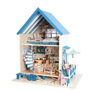 Flever Casa Muñeca Miniatura Diy Casa Kit Manual Creativo +