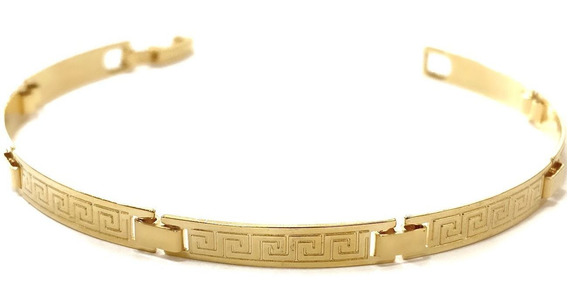 Bracelete Masculino Versace 5m Banhado A Ouro 18k Lancamento