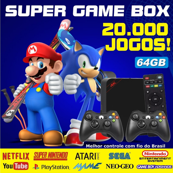 Super Game Retro - Video Game Multijogos Clássicos 64gb