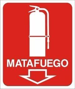 Cartel Matafuego Señalización 40x45. Extincenter