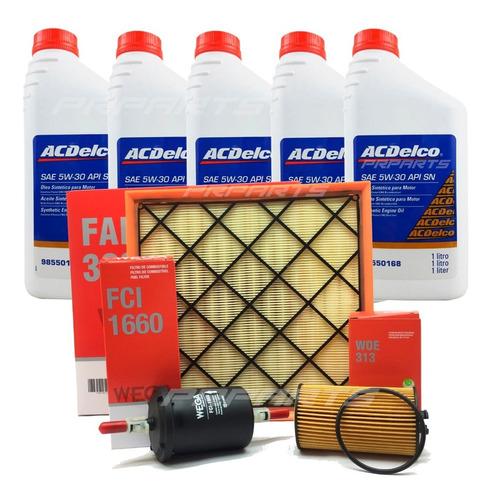Imagem 1 de 1 de Kit Filtro Combustível / Ar / Óleo 5w30 Cruze 1.8 2013 2014