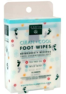 Earth Therapeutics - Clean + Cool Foot Wipes