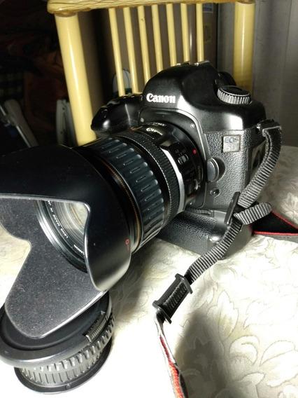 Canon 5d Clássica Com Batery Grip E Lente Zoom