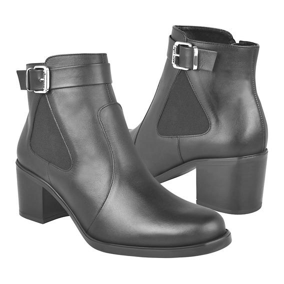 Botas De Moda Para Dama Vicenza 6158 Piel Negro
