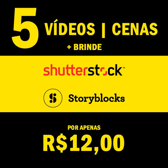 Vídeos Shutterstock, Storyblocks 4k, Hd