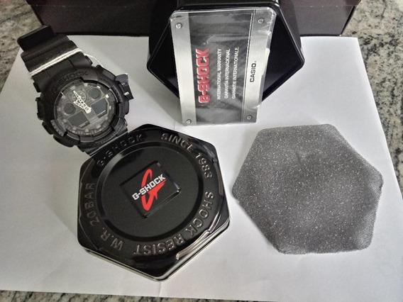 Relógio De Pulso Casio G-shock Ga - 100mb - 1a