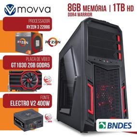 Computador Gamer Amd Ryzen 3 Mem. 8gb Hd 1tb Gt 1030 Linux