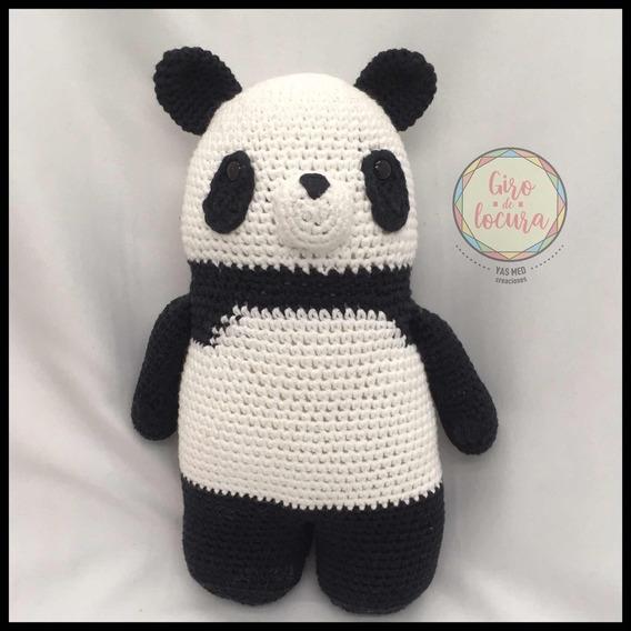 oso panda amigurumi gigante (tutorial) - YouTube | 568x568