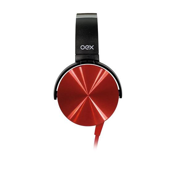 Fone De Ouvido Giratório Headset Cosmic Hs208 Vermelho Oex