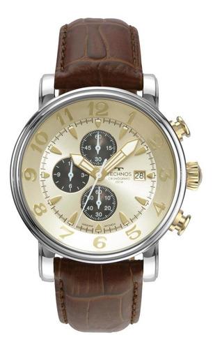 Relógio Masculino Technos Grandtech Os10fi/0d 44mm Couro
