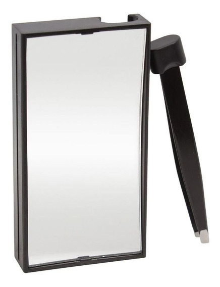 Espelho De Aumento Em 10 Vezes Com Pinça Acoplada De Colocar Na Bolsa Marco Boni