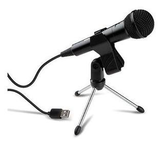 Microfono Dinamico Usb Hugel Poadcasting Gamer Streaming