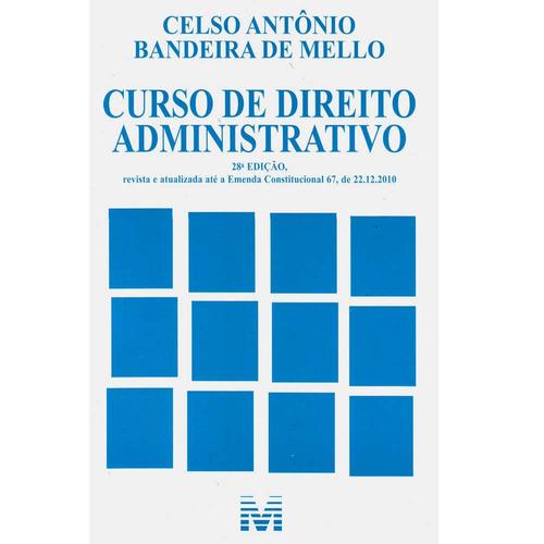 Livro Curso De Direito Administrativo Celso Antonio Bandeira