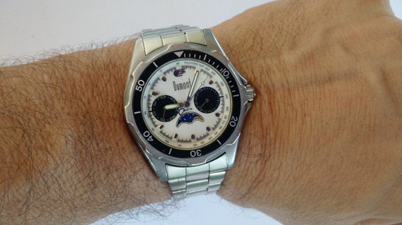 Relógio Fases Da Lua Dumont Quartz Semi Novo Raríssimo