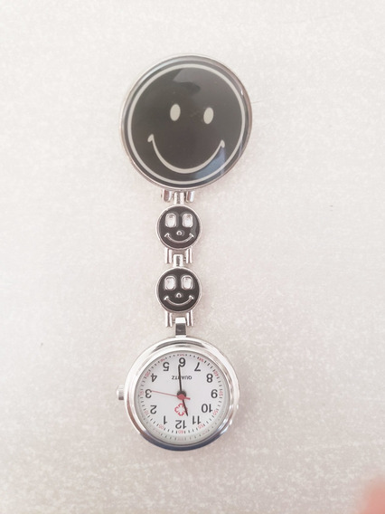 Reloj Enfermera Negro Happy