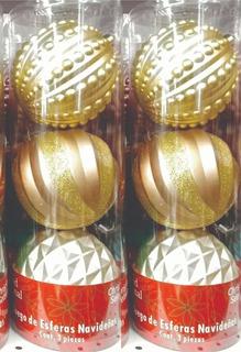 Esferas Navideñas Rose Gold Verde Gold Transparentes Tornaso