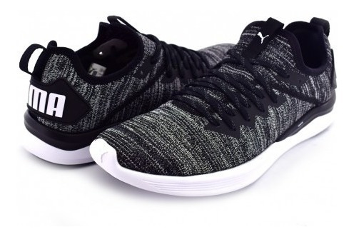 Tenis Puma 190508 02 Black-asphalt-white Ignite Flash Evokni